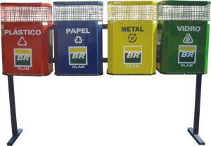 Coletor de lixo em aço - AM7